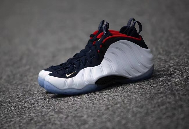 "耐克高仿双层Zoom气垫美鞋Nike Air Foamposite Pro One ""Olympic"""