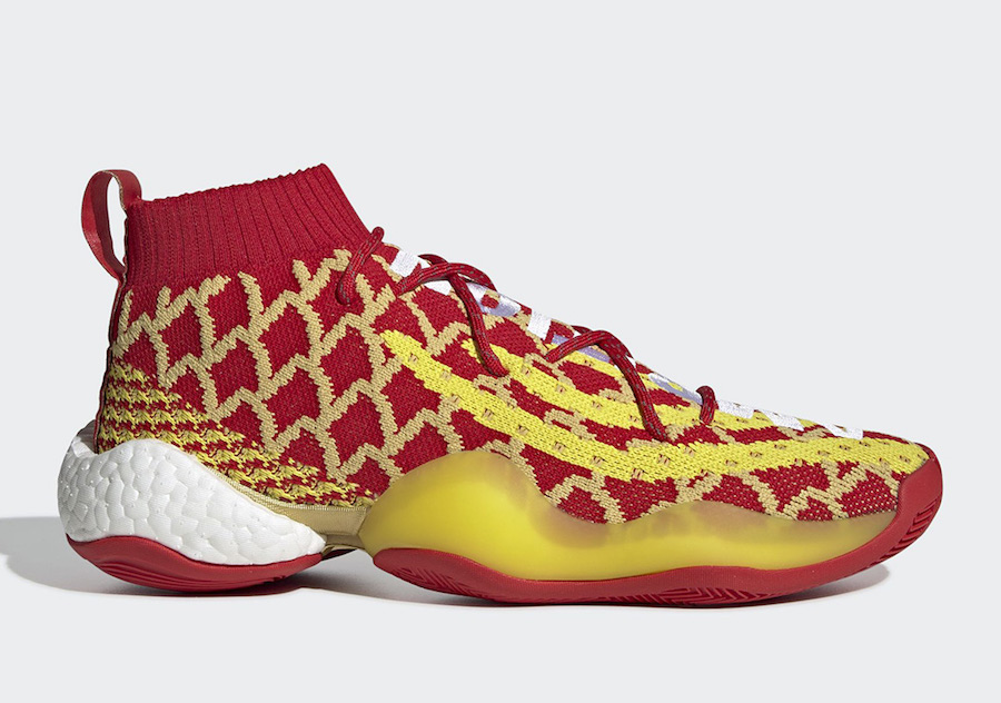 "Pharrell x adidas Crazy BYW ""Chinese New Year"" 货号:EE8688"