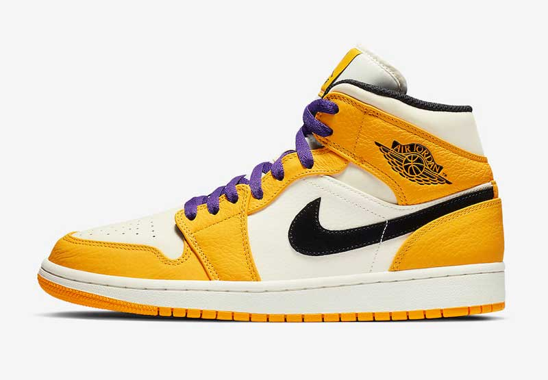 "Air Jordan 1 Mid ""Lakers"" 货号:852542-700"