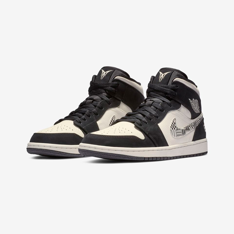 "Air Jordan 1 Mid BHM ""EQUALITY"" 货号:852542-010"
