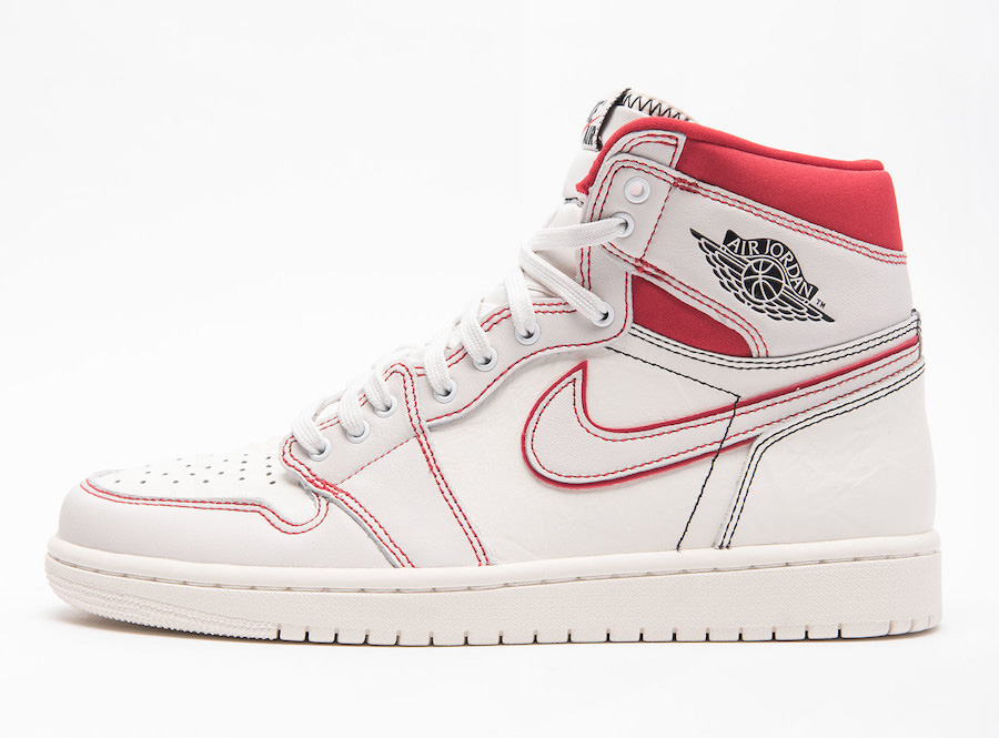 "Air Jordan 1 Retro High OG ""Sail/Red"" 货号:555088-160"