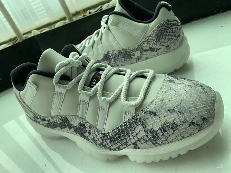 "Air Jordan 11 Low SE ""Snakeskin"" 蛇纹野性十足! 货号:CD6846-002"
