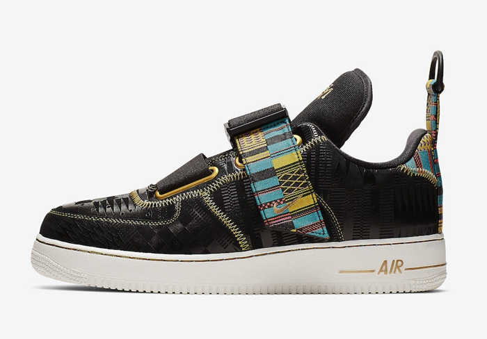 "Nike Air Force 1 Utility ""BHM"" 货号:BV7783-001"