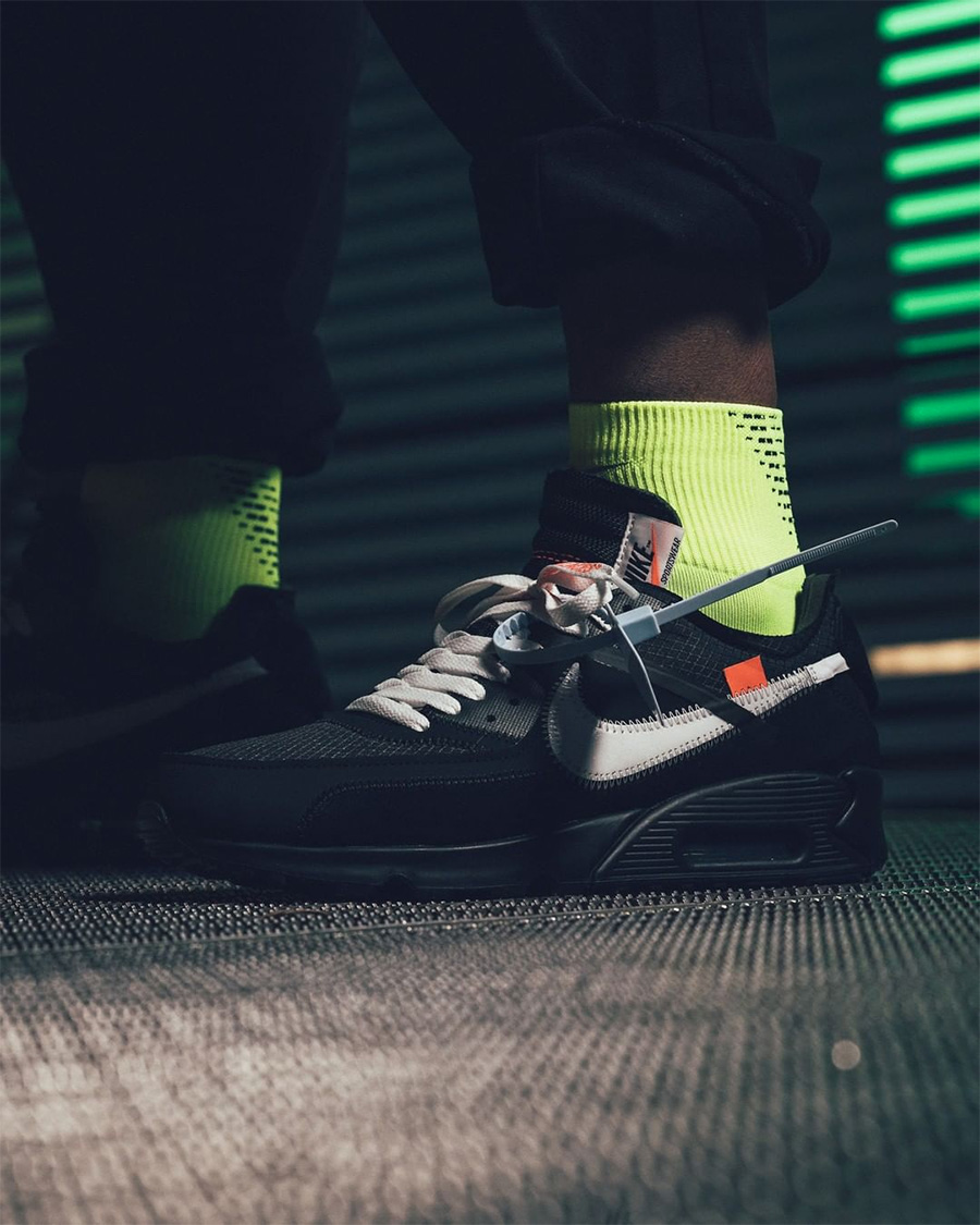 OFF-WHITE x Nike Air Max 90 货号:AA7293-200/AA7293-001 即将发售!