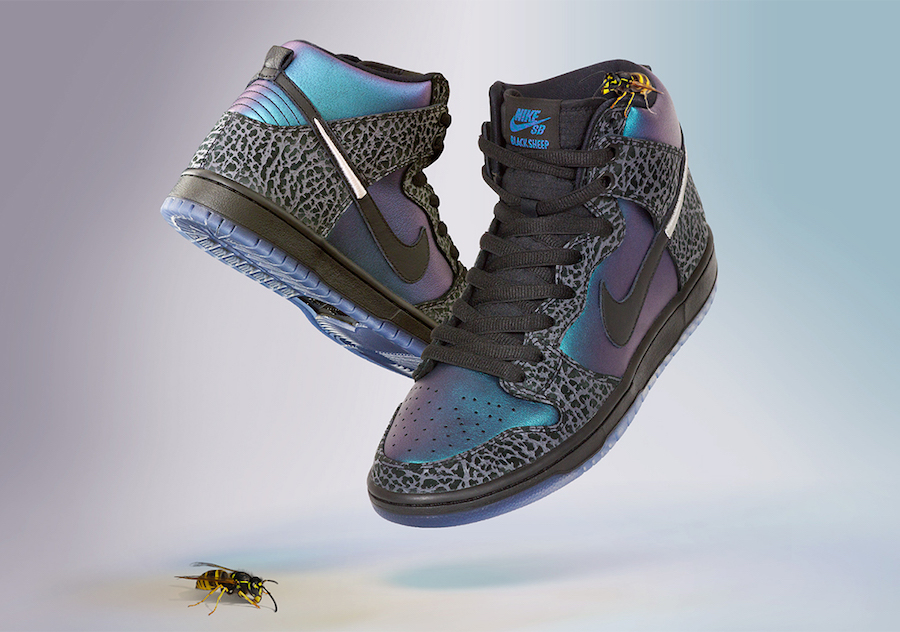 "Black Sheep x Nike SB Dunk High ""Black Hornet"" 发售日期:2 月 15 日"