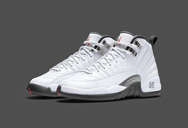 "Air Jordan 12 ""White/Grey""  货号:130690-160 实图欣赏!"