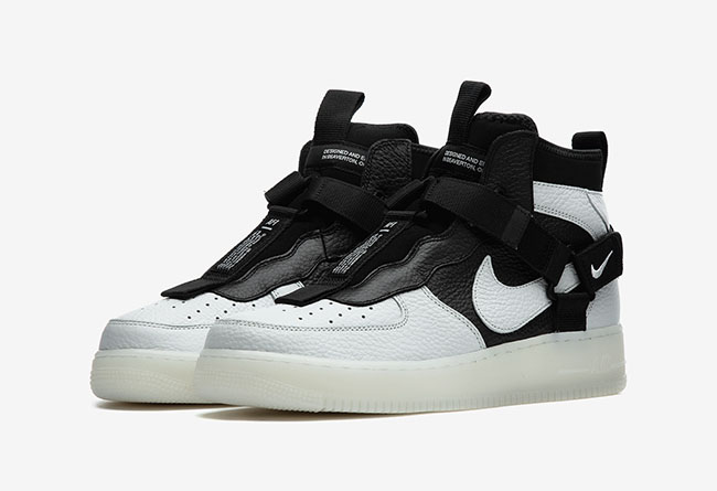 Nike Air Force 1 Utility Mid 熊猫 货号:AQ9758-100