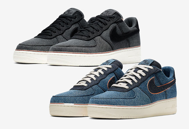 3×1 x Nike Air Force 1 货号:905345-006(黑)/905345-403(蓝)