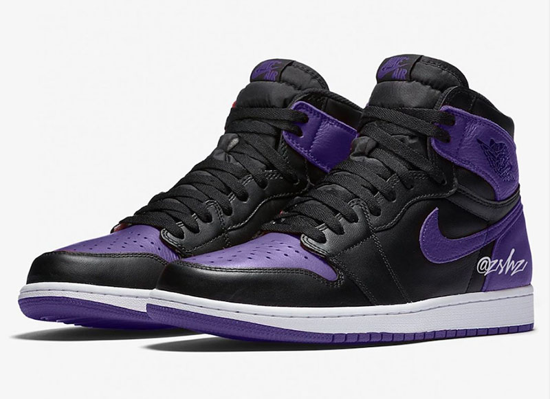 "Air Jordan 1 High OG ""Court Purple"" 货号:555088-500"