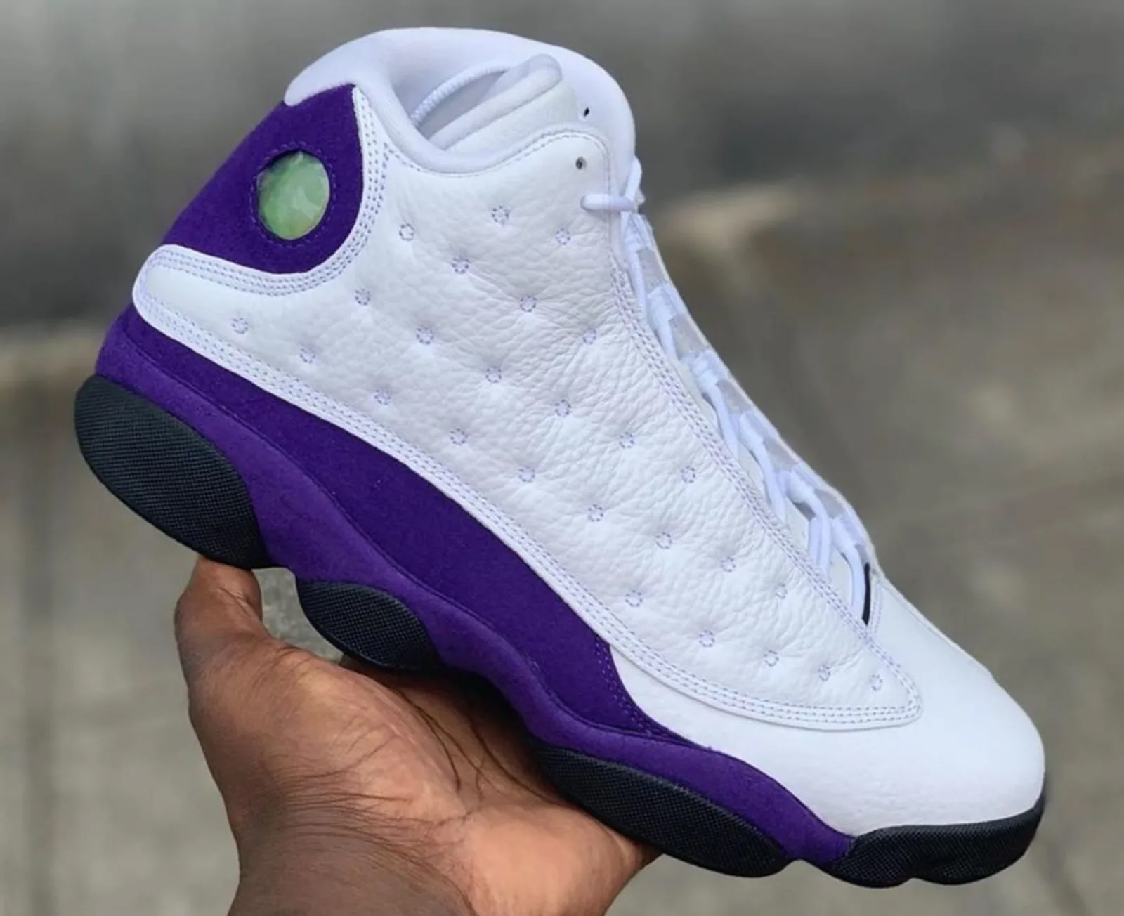 "Air Jordan 13 ""Lakers Rivals"" 货号:414571-105"