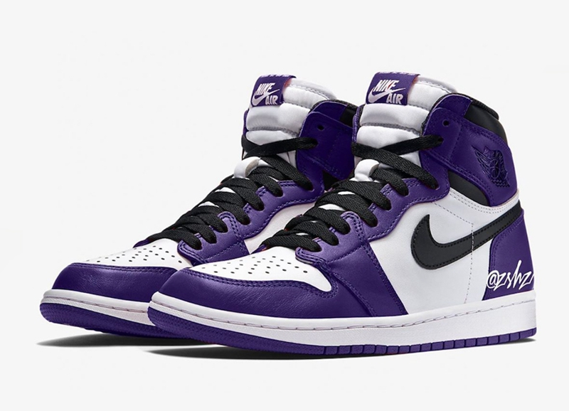 "Air Jordan 1 High OG""Court Purple"" 黑紫 货号:555088-500"