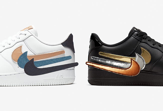 Nike Air Force 1 Low Removable Swoosh Pack 货号:CT2253-100 (白)/ CT2252-001(黑)