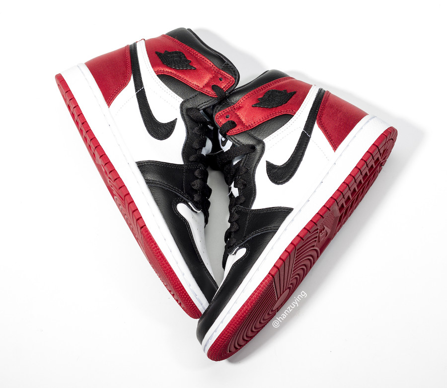"Air Jordan 1 Satin WMNS ""Black Toe"" 货号:CD0461-016"