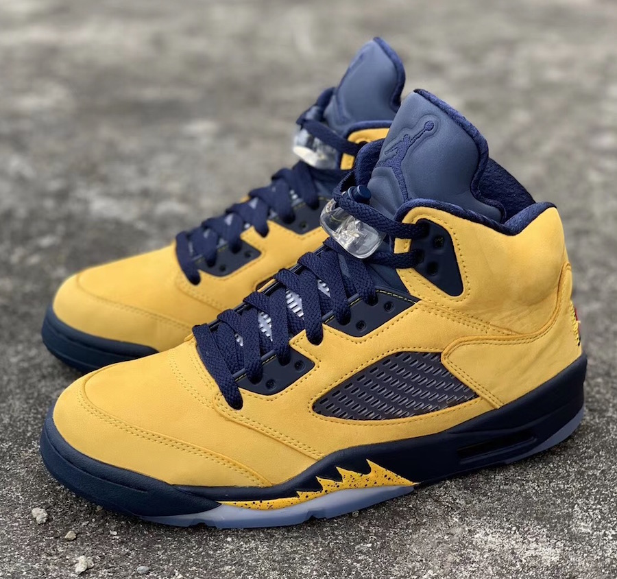 "Air Jordan 5 SP ""Michigan"" 货号:CQ9541-704"