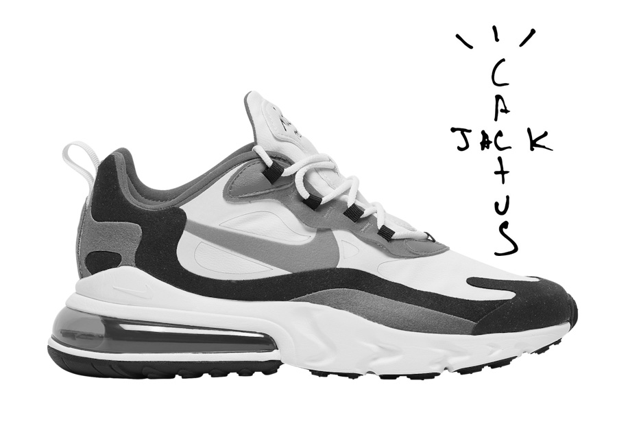Travis Scott x Nike Air Max 270 React 实物图欣赏