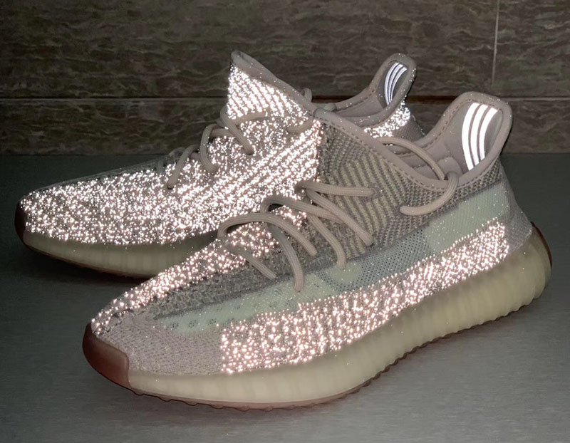 "adidas Yeezy Boost 350 V2 ""Citrin Reflective"" 货号:FW3042"