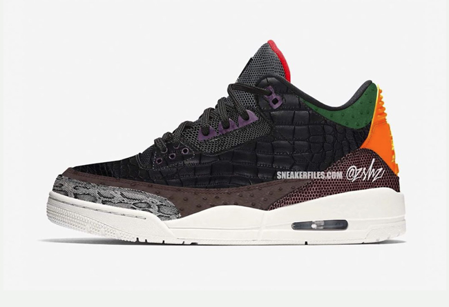 "Air Jordan 3 SP ""Animal Pack"" 动物园配色 货号:CK4344-001"