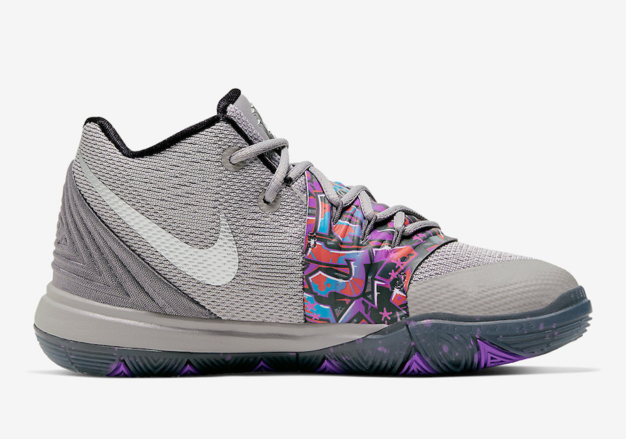 "Nike Kyrie 5 GS ""Graffiti"" 涂鸦配色 货号:AQ2458-001"