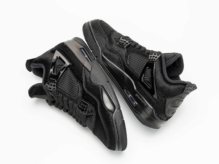 Air Jordan 4 WMNS Pony Hair Black Cat 货号:CK2925-001