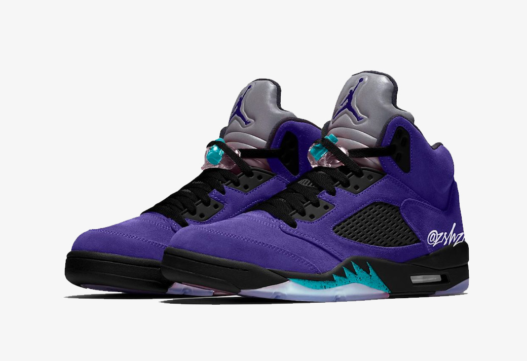 "Air Jordan 5 ""Alternate Grape"" 紫葡萄 货号:136027-500"