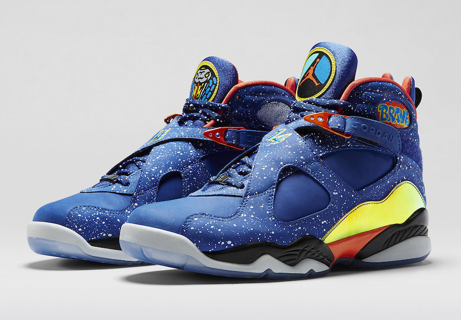 "Air Jordan 8 SP SE ""Multi-Color"" 莆田高仿鞋 货号:BQ7666-100"