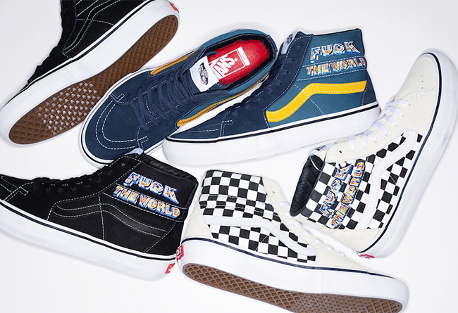 "全新Supreme x Vans Sk8-Hi ""Fuck The World"" 三双联名齐发"
