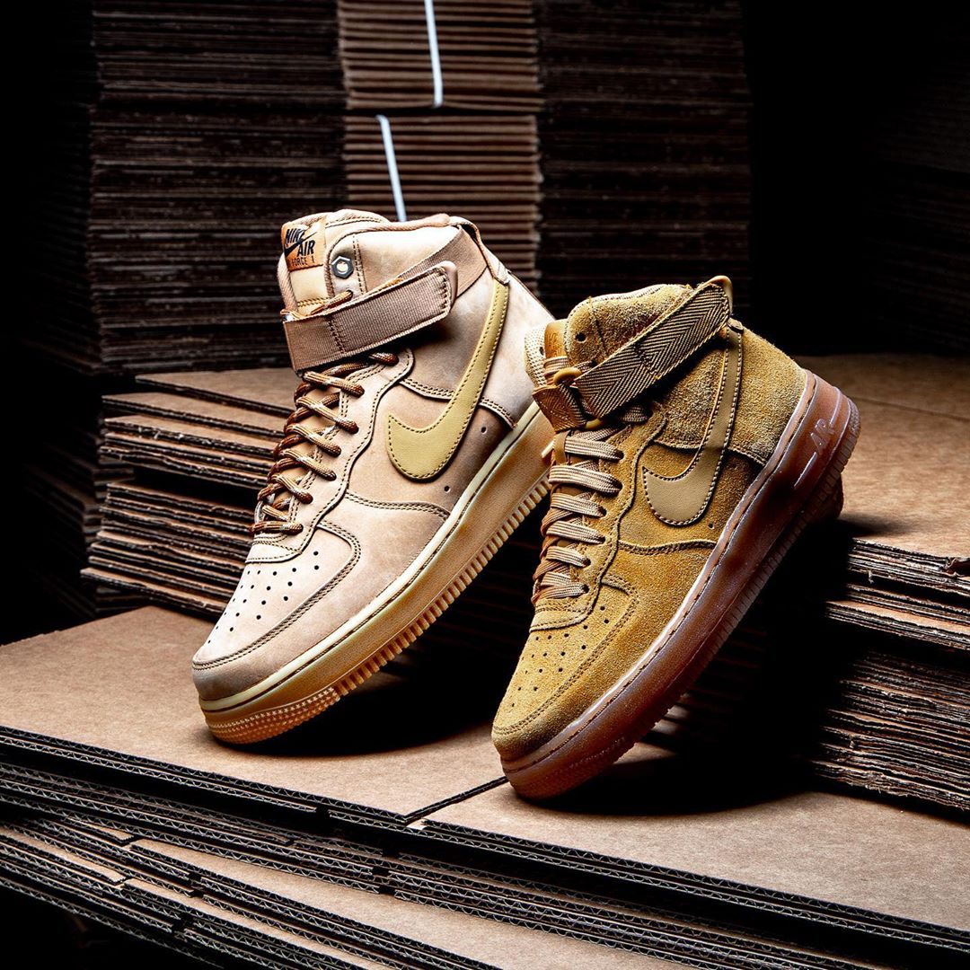 "全新Nike Air Force 1 High ""Flax""小麦 货号:CJ9178-200"