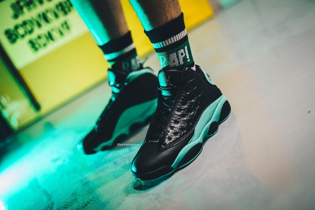 "Air Jordan 13 Retro ""Island Green"" 湖水绿配色 货号:414571-030"
