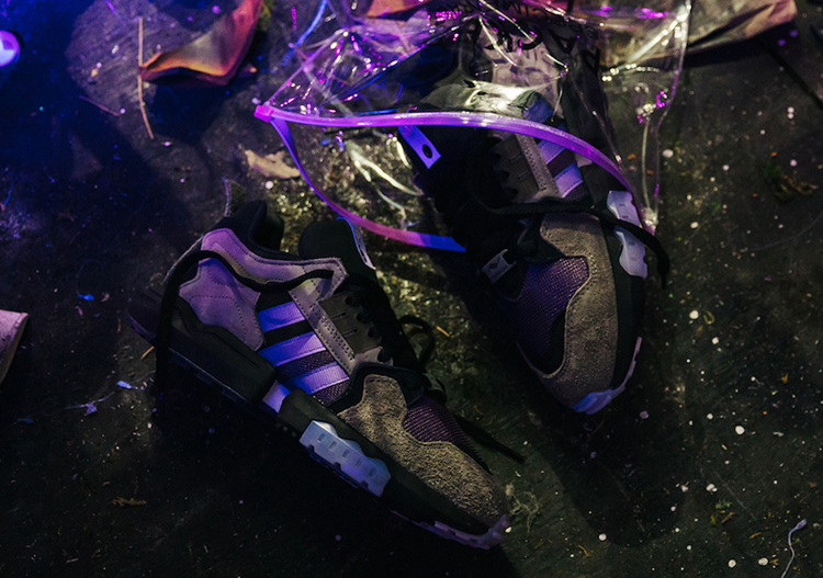"Packer x adidas Consortium ZX Torsion ""Mega Violet"" 紫罗兰配色"