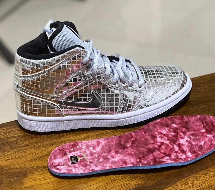 "Air Jordan 1 Mid ""Disco Ball"" 2020年发售"