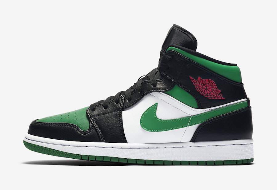 "Air Jordan 1 Mid ""Pine Green"" 货号:554724-067"