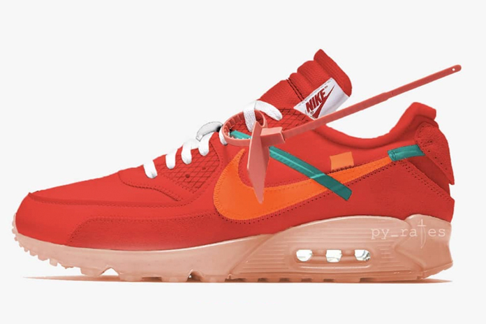 OFF-WHITE x Nike Air Max 90 货号:AA7293-600