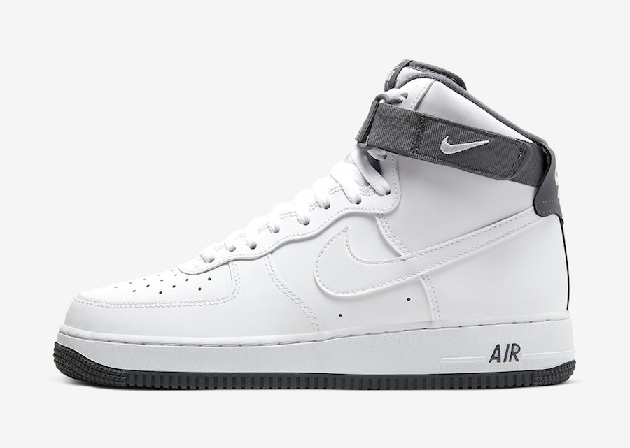 "Nike Air Force 1 High ""White Charcoal"" 货号:CD0910-100"