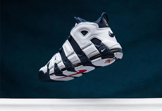 "Nike Air More Uptempo ""Olympic"" 货号: 414962-104"