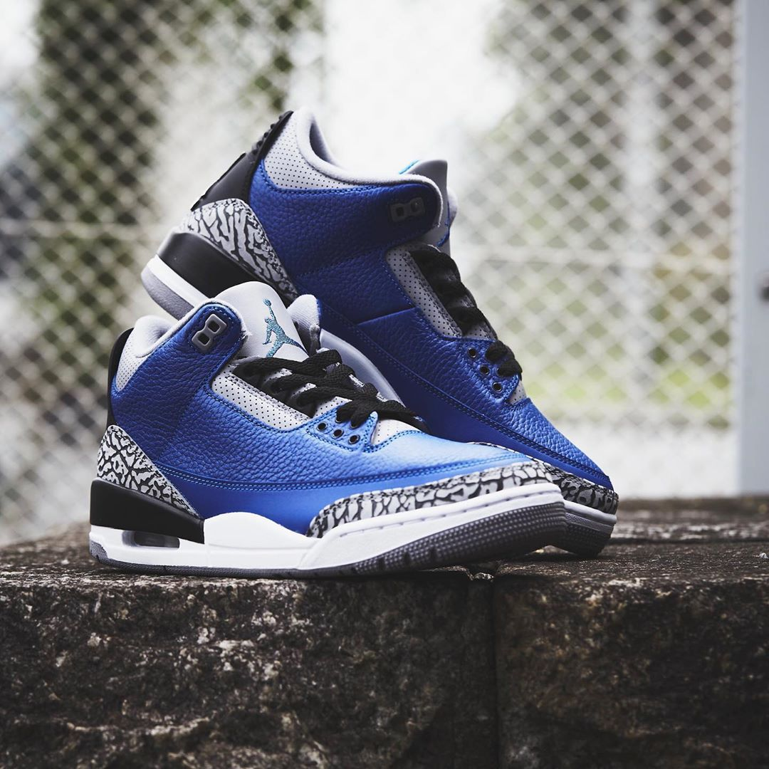 "Air Jordan 3 ""Varsity Royal"" 货号:CT8532-400"
