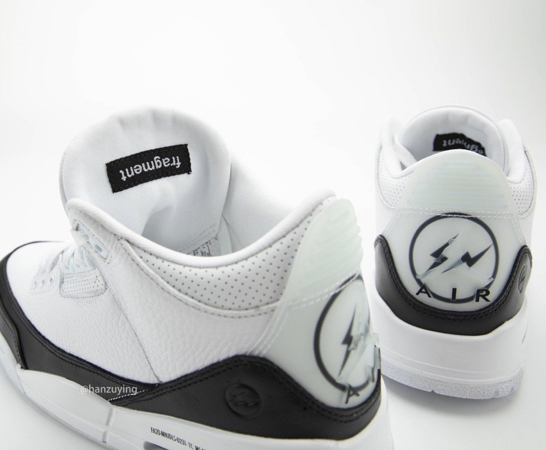 Fragment Design x Air Jordan 3 货号:DA3595-100