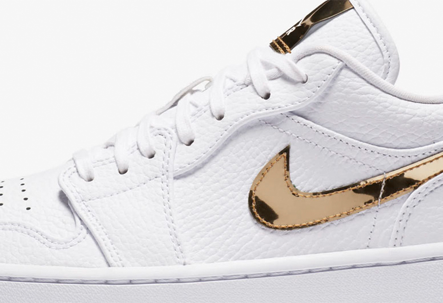 "Air Jordan 1 Low ""Metallic Gold"" 货号:CZ4776-100"