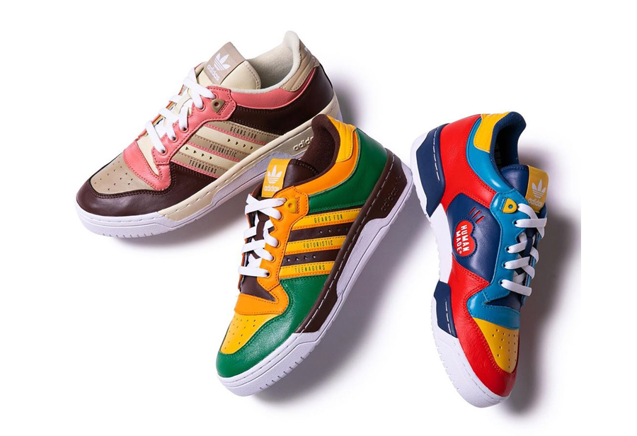 Human Made x adidas Rivalry Low 货号:FY1085 / FY1084 / FY1083