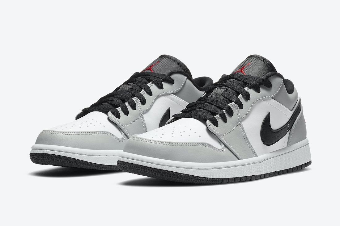 "Air Jordan 1 Low ""Light Smoke Grey"" 货号:553558-030"