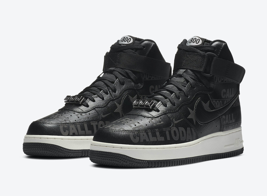"Nike Air Force 1 High '07 Premium ""Toll Free""货号:CU1414-001"