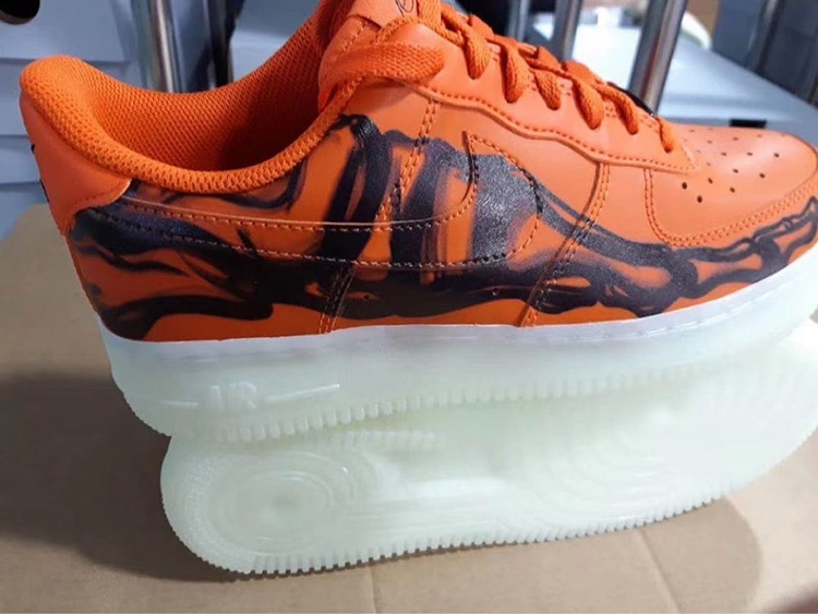 "Nike Air Force 1 Skeleton ""Brilliant Orange""货号:CU8067-800"