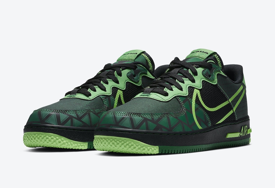 "Nike Air Force 1 React ""Naija""货号:CW3918-001"