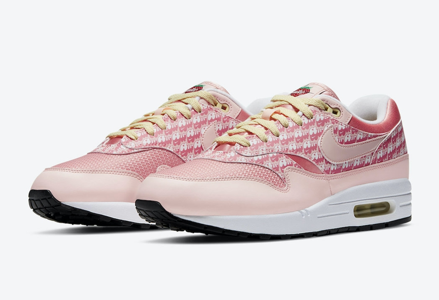 "Nike Air Max 1 ""Strawberry Lemonade""货号:CJ0609-600"
