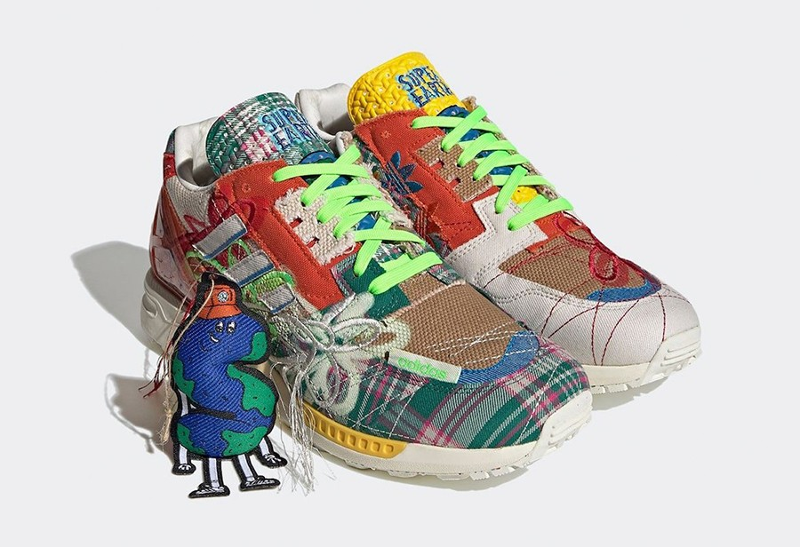 """Sean Wotherspoon x adidas ZX 8000 """"Super Earth"""" 货号:GZ3088"""