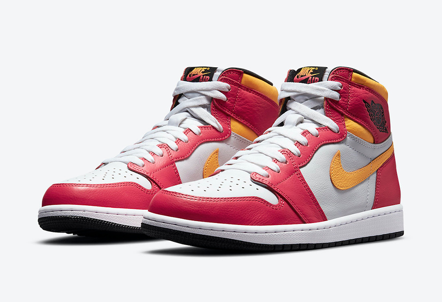 "Air Jordan 1 High OG ""Light Fusion Red"" 货号:555088-603"